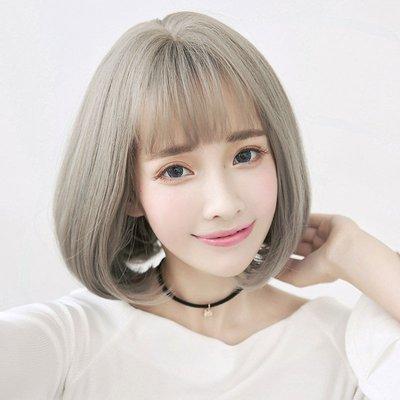 韓式高仿真  自由分線 梨花 髮尾微彎 短髮【MB352】☆雙兒網☆
