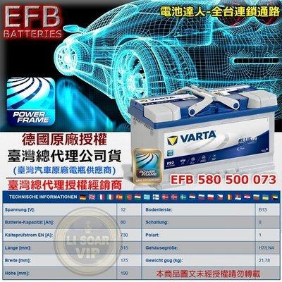 【電池達人】德國 原廠電池 VARTA F22 EFB 華達 電瓶 舊換新 特價賣場 工資另計 SHARAN 福斯 奧迪
