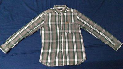 【※正品※二手拍賣】EANKLEAN   綠色格紋襯衫(重磅加厚) L號