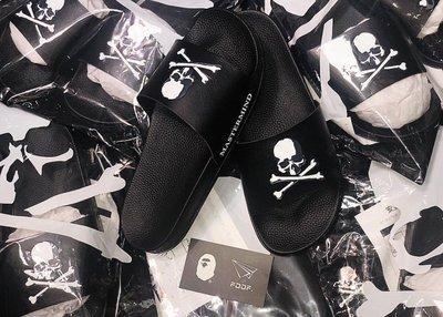 [FDOF] MASTERMIND JAPAN DEBOSSED SLIDE SANDAL 18AW 骷顱 拖鞋