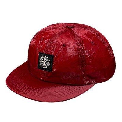 【AYW】SUPREME STONE ISLAND NEW SILK LIGHT 6-PANE 聯名 六片帽 棒球帽 紅