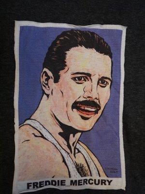 【小間搖滾】Queen 皇后合唱團  Freddie Mercury  ☆進口經典電影人物ㄒ恤