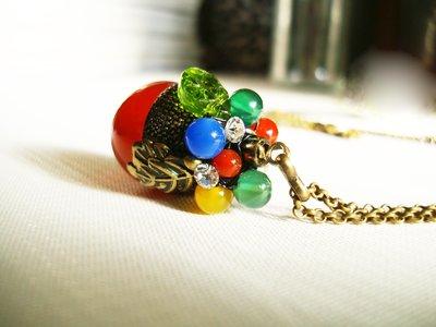 Sophia accessories【紅果子】歐式復古項鍊 *手作&私飾* 輕珠寶