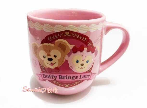 《東京家族》日本東京海洋迪士尼-樂園限定情人節 達菲熊/雪莉玫 duffy陶瓷紀念杯馬克杯咖啡杯