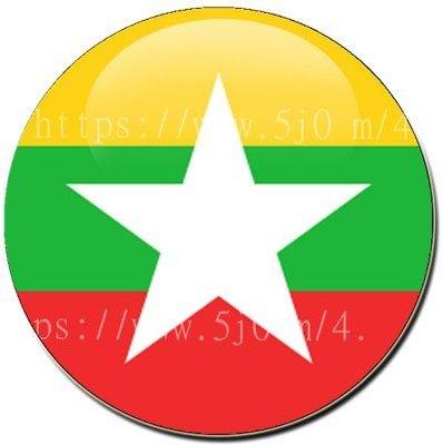 〈世界國旗〉緬甸 國旗胸章 (直徑3.2公分)
