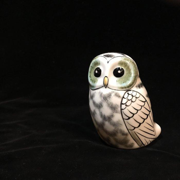 日本水墨描線貓頭鷹側身九谷燒~最特別的禮物都在奧爾思~