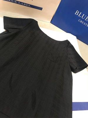 Burberry 藍標新品牌 blue label crestbridge全件隱格紋後蝴蝶結上衣sale~~