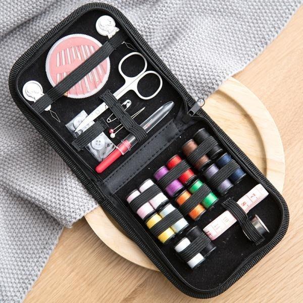 居家家 手工縫紉工具針線盒10件套裝 家用便攜縫補針線盒子針線包