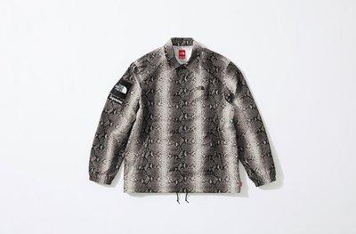 WIllion Supreme x TNF Taped Seam Coaches Jacket 蛇紋 黑M
