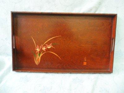 紫色小館38--------正清老品海南黃花梨木描金花卉盤