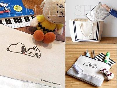 美生菜俱樂部增刊附附錄SNOOPY 大型雙面手拿包 包中包 萬用包 IPAD包 有背帶(SBH16-T)