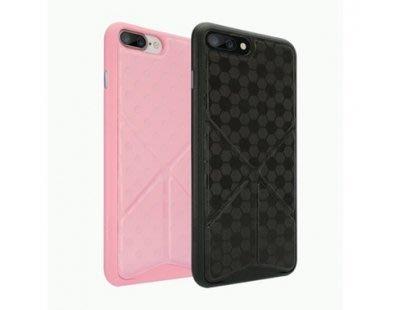 Ozaki O!coat 0.3+ Totem Versatile iPhone 7 PLUS 背蓋 皮紋 可立式