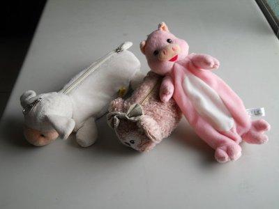 羊妹妹筆袋*咖啡色狗狗筆袋*粉紅豬鉛筆袋*文具袋.鉛筆盒.玩偶筆袋.收納包.吊飾