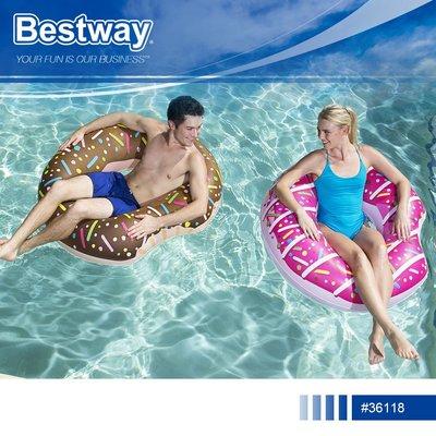 Bestway 36118 造型甜甜圈充氣游泳座圈.夏日海邊泳池戲水造型泳圈充氣浮圈坐墊救生圈