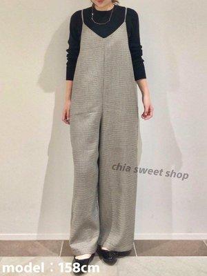 ☆Chia sweet shop☆現貨日本帶回american holic千鳥格吊帶連身寬褲