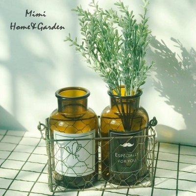 莉迪卡娜~歐式簡約透明花瓶創意玻璃客廳擺件裝飾品水培插花干花花器小清新