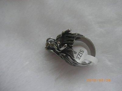 0637鋼戒指西德316L白鋼白龍王戒招財護身9號戒圍