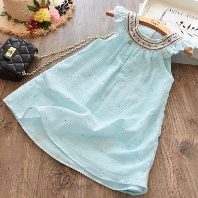【Mr. Soar】 **清倉** G254 夏季新款 歐美style童裝女童小清新洋裝背心裙 現貨