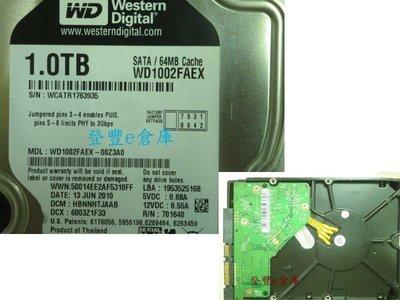 【登豐e倉庫】 F80 WD1002FAEX-00Z3A0 1TB SATA3 救資料 檔案救援 修理硬碟 資料復原