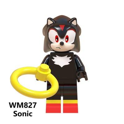 【積木班長】WM827 影子 夏特 音速小子 SONIC 電玩 電影 人偶  袋裝/相容 樂高 LEGO 積木