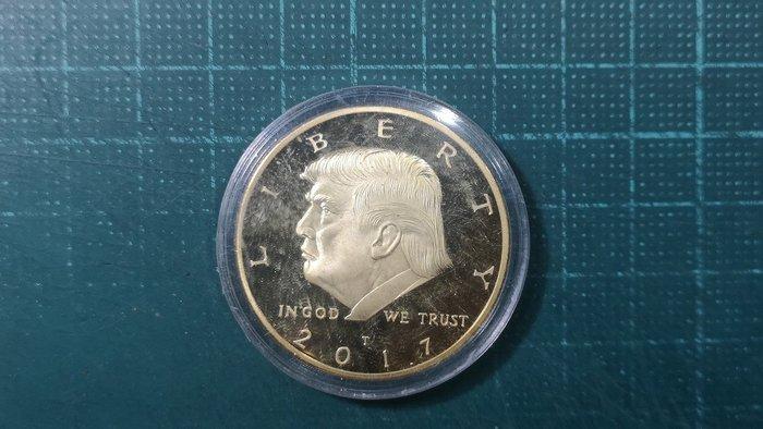 United States (美國) 川普紀念章,2017 鎳, 直徑40mm, 重量約30公克 #190973