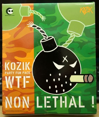 Kozik WTF Party Fun Pack Non Lethal 炸彈 Figure 原盒