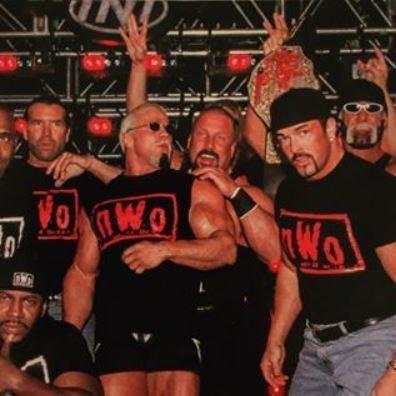 [美國瘋潮]正版WWE nWo Wolfpac Red Logo T-Shirt NWO精神紅色標語復刻款衣服 WCW