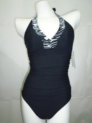 //彩虹屋//黑色動物紋連身泳裝~美國品牌ASSETS台灣製造萊卡材質品質最佳