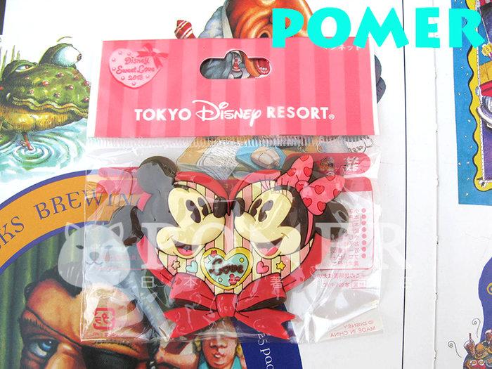 ☆POMER☆日本東京迪士尼樂園 絕版正品 米奇 米妮 甜蜜 情人節 愛心 蝴蝶結 巧克力 磁鐵 吸鐵 生日禮物 聖誕節