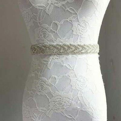 天使佳人婚紗禮服~~~~~~~~婚紗禮服釘珠腰帶腰封奢華水鑽