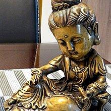 【 金王記拍寶網 】 H093 (常五) 中國近代銅雕藝術 文殊觀音 一尊 罕見稀少~