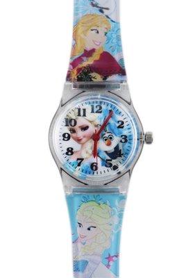 【卡漫迷】 冰雪奇緣 卡通錶 粉藍 ㊣版 艾莎 雪寶 公主 Elsa Olaf Frozen 手錶 兒童錶 女錶 膠錶