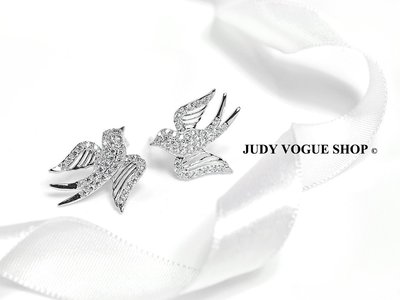 韓國 耳環 Victoria 幸運燕耳環 輕奢華森林系 簍空設計 JUDY VOGUE SHOP【JES-0018】