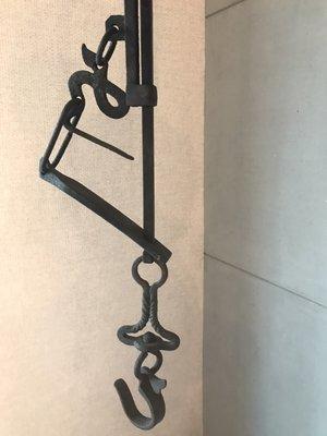 『 已售出 』日本老自在鉤/掛勾/長鉤 鐵製 鐵鉤 款式二 ((日本自在鉤 可搭配鐵壺/銀壺/茶道空間設計使用