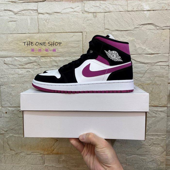缺貨中 AIR JORDAN 1 MID WMNS AJ AJ1 1代 高筒 黑紫 籃球鞋 BQ6472-005