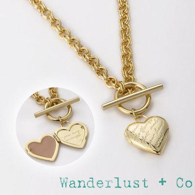 Wanderlust+Co 澳洲品牌 金色手工刻字愛心相本項鍊 Honor Heart 實現心靈成長