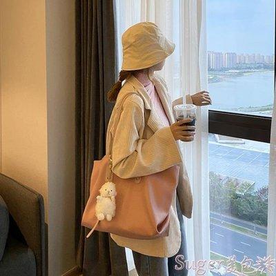托特包 包包女大容量包2020新款潮網紅托特包小眾設計購物袋包側背大包 suger