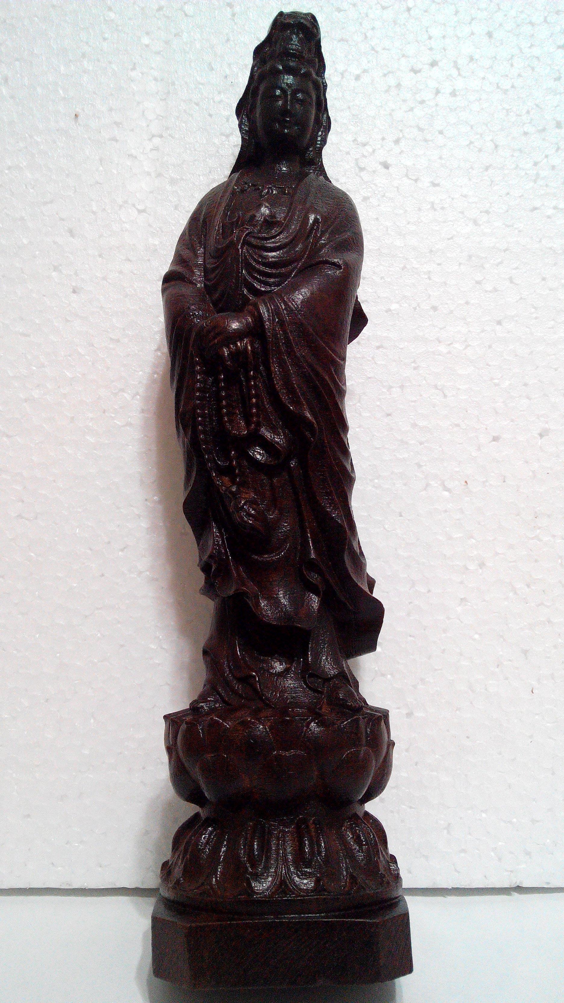 【九龍藝品】沉木雕 ~  觀世音菩薩  ~ 高約30公分 (1)