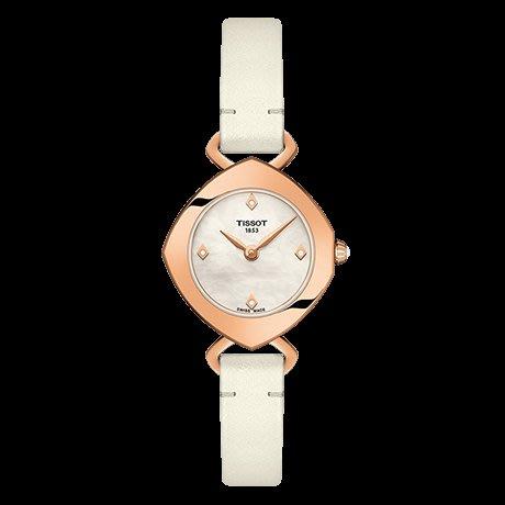 Tissot 天梭伊婷系列皮帶石英女腕錶 T1131093611600