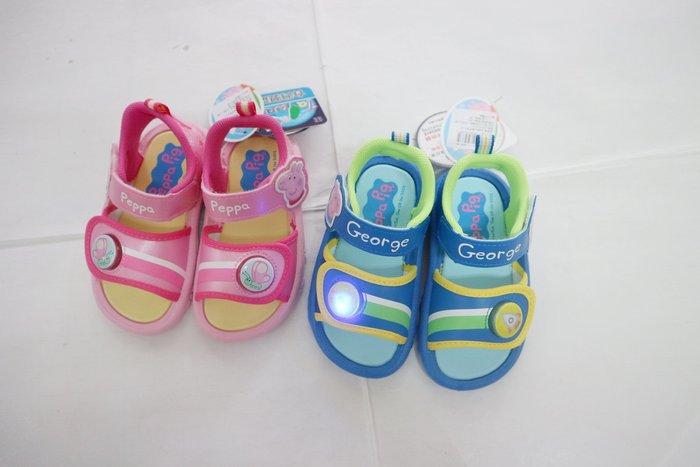 409》 佩佩豬 喬治豬 電燈鞋 新上市 4533 無毒拖鞋台灣製造 MIT經典時尚 14~18號鞋內CM