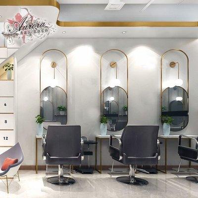 理髮店  美髮鏡  理髮鏡 美髮店 美容鏡  上燈 風格 現代摩登鏡台 美容美髮鏡台