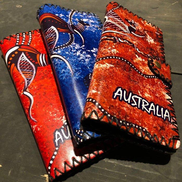 澳洲彩繪皮夾