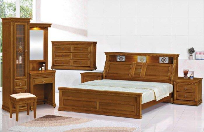 貨號BC21-1A名稱《漢馬》5尺實木樟木色床套組(圖一) 床台+床頭櫃*1六斗櫃7尺衣櫃台灣製 可拆賣.主要地區免運費