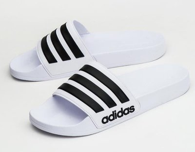 Adidas 男女款 運動 休閒 拖鞋 涼鞋 防水 adilette shower AQ1702 白黑 現貨 公司貨 台北市