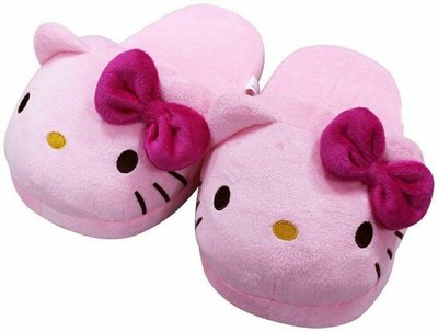 【UNIPRO】HELLO KITTY 凱蒂貓 粉紅頭型 保暖 室內拖鞋 毛拖 造型玩偶 保暖拖鞋 三麗鷗正版 KT