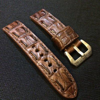 鱷魚背骨錶帶