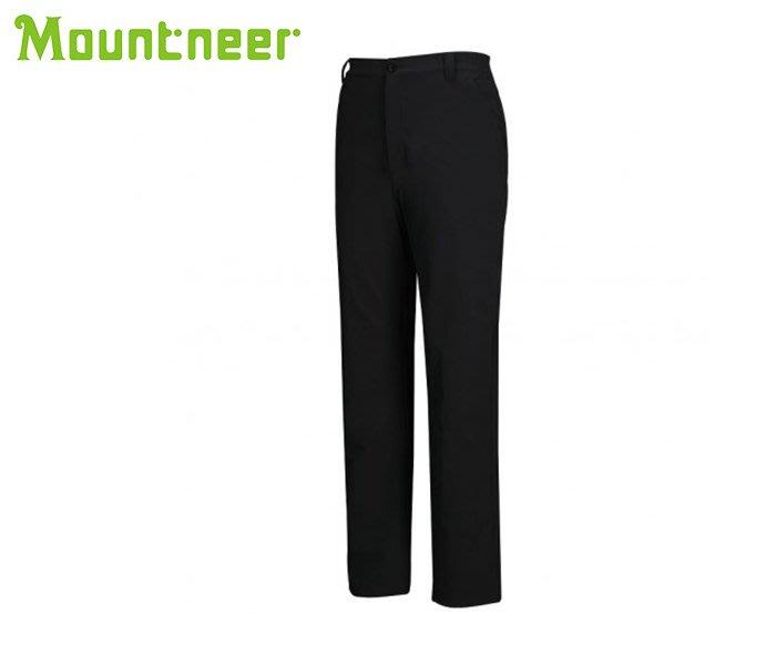 丹大戶外【Mountneer】山林休閒 男四向彈性保暖長褲 12S29-01 黑色