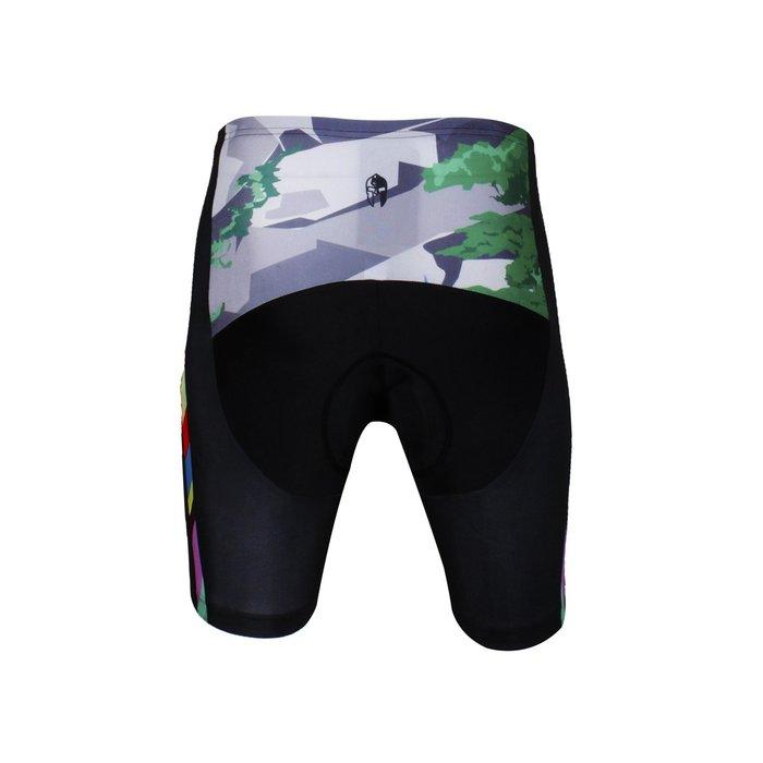 【Paladin】男款短袖車褲 :: 彩色斑馬