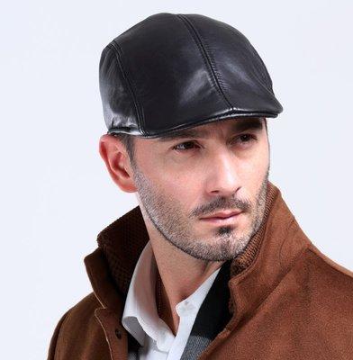 ~皮皮創~純手工真皮帽子貝雷帽打鳥帽狩獵帽復古雅痞小羊皮鴨舌帽小偷帽