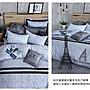 【OLIVIA 】OL302 奧斯汀 淺灰藍 標準雙人床包鋪棉冬夏兩用被套組  工業風格系列  MIT原創設計